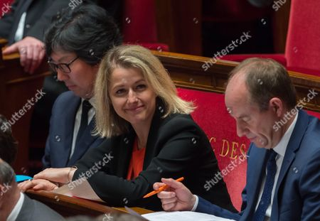 Junior Minister for Biodiversity, Barbara Pompili and French Minister of Justice, Keeper of the Seals, Jean-Jacques Urvoas