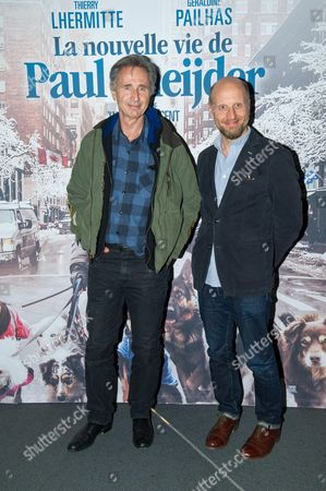 Stock Picture of Thierry Lhermitte and director Thomas Vincent