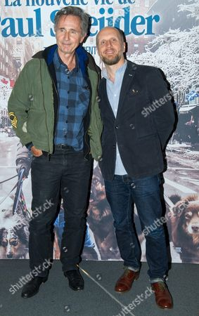 Stock Image of Thierry Lhermitte and director Thomas Vincent