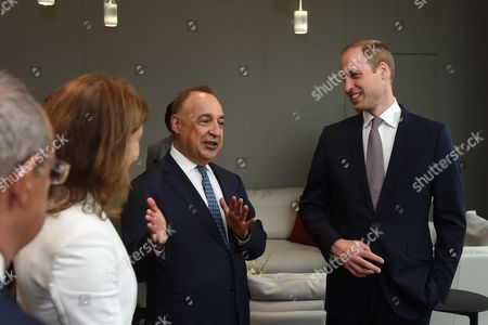 Stock Image of The Prince William (right) talks to Len Blavatnik during a tour of the Blavatnik School of Government in Oxford.