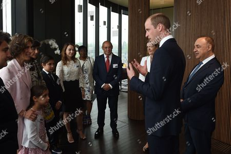 The Prince William meets the Blavatnik family including Len Blavatnik (right) during a tour of the Blavatnik School of Government in Oxford.