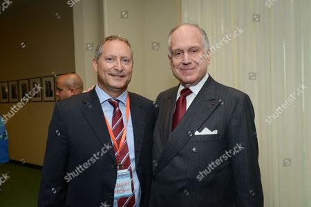 Sodastream CEO Daniel Birnbaum, Ronald Lauder, President of the World Jewish Congress