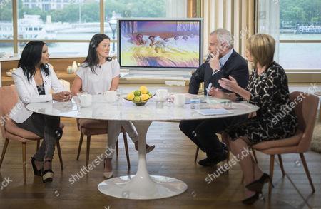 Stock Photo of Anjula Mutanda, Kim Constable, Eamonn Holmes and Ruth Langsford