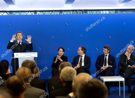 Nicolas Sarkozy, Sophie Dion, Luc Chatel, Francois Baroin and Hubert Andrew Falkous.