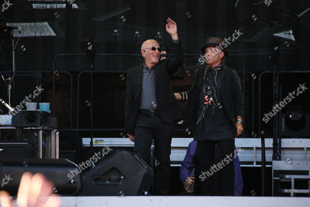 Stock Image of Bruce Springsteen and the E Street Band - Roy Bittan and Nils Lofgren
