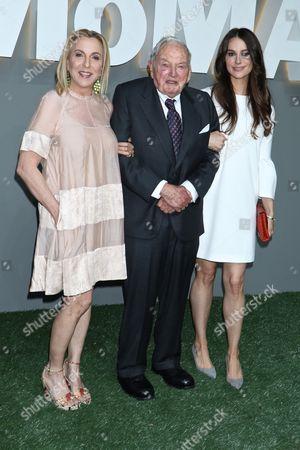 Susan Rockefeller, David Rockefeller Sr. and Ariana Rockefeller