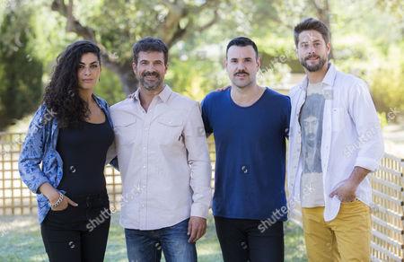 Nya de la Rubia, Rodolfo Sancho, Miquel Fernandez and Luis Fernandez
