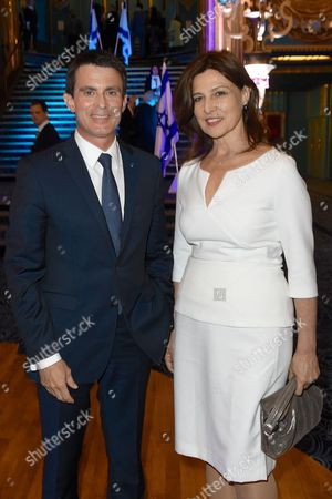 Manuel Valls and Aliza Bin Noun