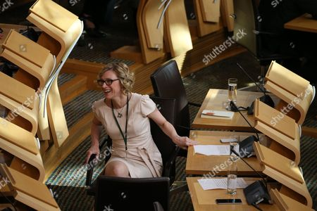 Gillian Martin before the start of FMQs