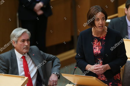 Iain Gray and Kezia Dugdale, Leader of the Scottish Labour Party