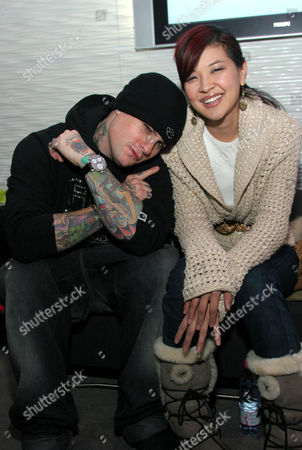 Benji Madden and Suchin Pak during Day One at the W Las Vegas Residences Lounge