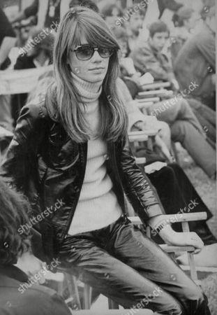 Francoise Hardy Singer/actress Pictured At The Isle Of Wight Pop Festival. Box 646 327111542 A.jpg.