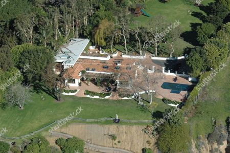 Stock Photo of The hacienda style house that Kate Moss is renting, which used to belong to Elizabeth Taylor.