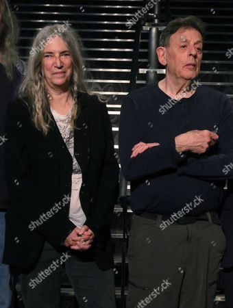 Stock Image of Patti Smith and Philp Glass