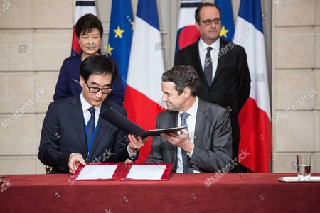 Park Geun-hye, Francois Hollande, Thierry Mandon, Lee Joon Sik