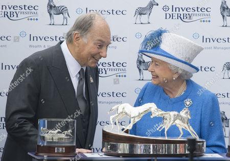 Prince Karim Aga Khan, and Queen Elizabeth II