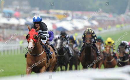 Epsom Downs Racecourse The Investec Derby Day. The Investec Asset Management Stakes. Blane ridden by Kieren Fallon wins