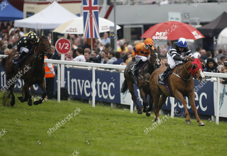 BLAIN and Kieren Fallon Wins The Investec Asset Management Stakes for Trainer Dandy Nicholls. In second Jedd O'Keeffe's Shared Equity ridden by Graham Lee DERBY DAY at Epsom Downs Racecourse