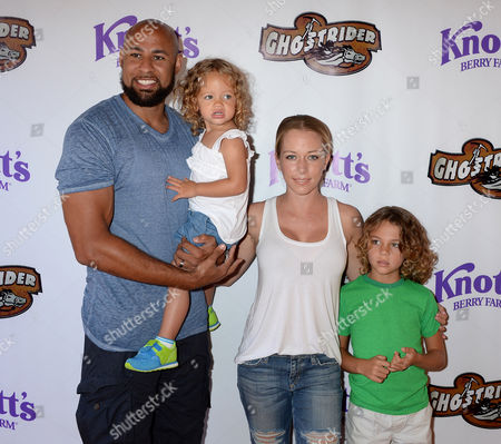 Kendra Wilkinson, husband Hank Baskett, daughter Alijah Baskett, son Hank Baskett Jnr
