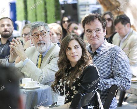 Stock Photo of John Landis, Quentin Tarantino, Courtney Hoffman