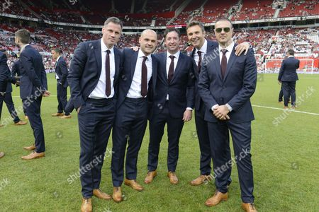 Jamie Carragher, Danny Murphy, Robbie Fowler, Jonathan Wilkes and Paddy McGuinness