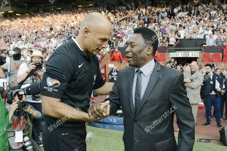 Howard Webb and Pele