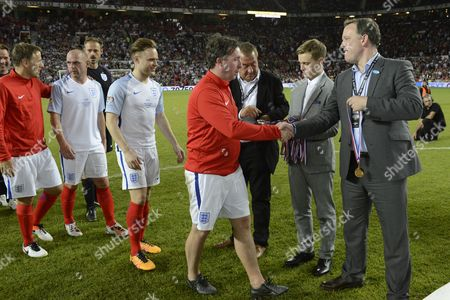 Phil Neville, Danny Murphy, Olly Murs, Robbie Fowler