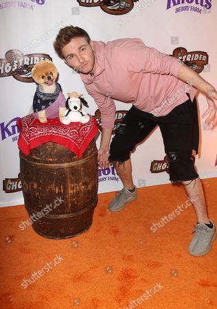 AJ Lehrman with Jiffpom the Dog