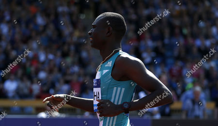 Kenya David Rudisha wining the Men's 600 meters during the IAAF Diamond League meeting at the Alexander Stadium, Birmingham on June 5th 2016