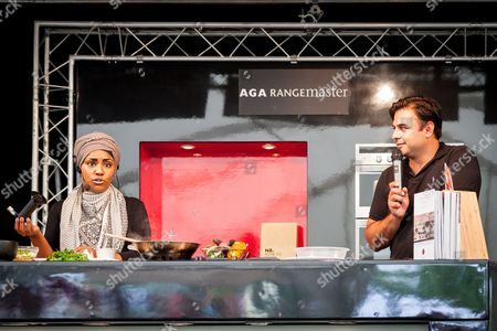Nadiya Hussain and Dhruv Baker