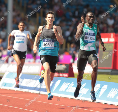 Pierre-Ambroise Bosse FRA (L) and David RUDISHA KEN (R) 600m Men Race during Birmingham Diamond League at Alexander Stadium on 5th June 2016