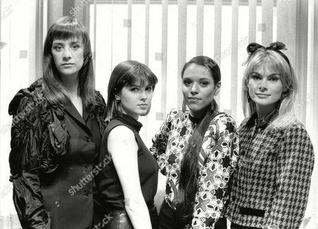 Tv Programme: Les Girls. L-r: Janet Mcteer Sadie Frost Debby Bishop And Rachel Fielding. Box 650 304121559 A.jpg.