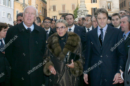 Vittorio Emanuele of Savoy and wife Marina Doria with Emanuele Filiberto of Savoy