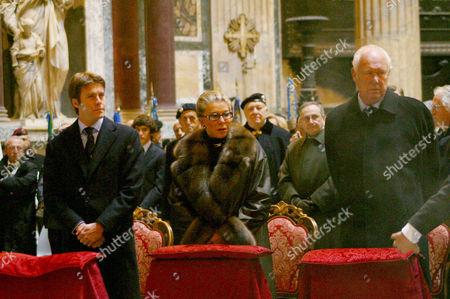 Emanuele Filiberto, Marina Doria and Vittorio Emanuele of Savoy