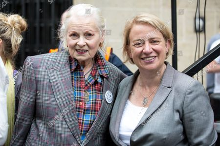 Vivienne Westwood and Natalie Bennett MP attend the NHS Bursary Cuts Forum demonstration in central London, marching against government cuts to the NHS bursary.