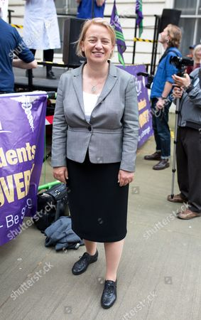 Natalie Bennett MP attends the NHS Bursary Cuts Forum demonstration in central London, marching against government cuts to the NHS bursary.