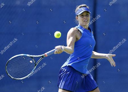 Portugal's Michelle Larcher De Brito during the Aegon Open Nottingham Tennis Tournament played at Nottingham tennis, Nottingham on June 6th 2016
