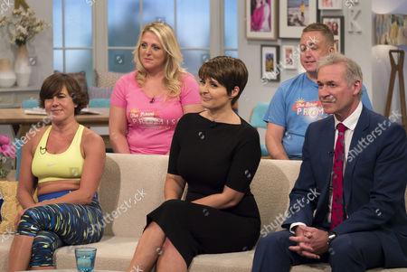 Maxine Jones, Sally Bee, Dr Hilary Jones with guests