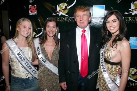 Miss Teen USA, Allie LAForce,with Miss USA, Robyn Michelle Wakins, Donald Trump, and Miss Universe 2005, Natalie Glebova  - Miss Universe 2005