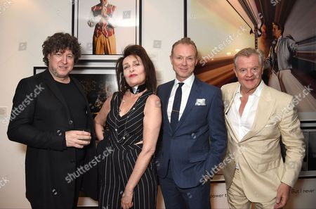 Denis O'Regan, Siouxsie Sioux, Gary Kemp and Tony McGee