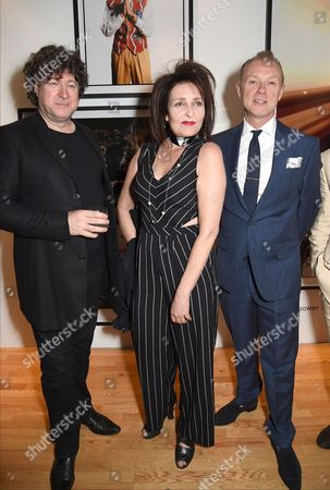 Denis O'Regan, Siouxsie Sioux and Gary Kemp