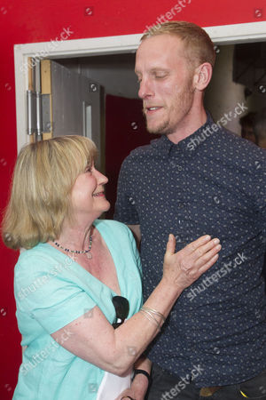 Joanna David and Laurence Fox