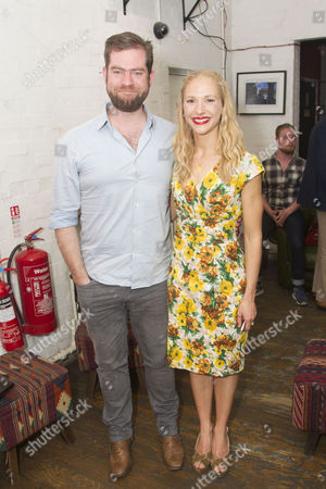 Simon Evans (Director) and Maddy Hill (Titania/Quince)