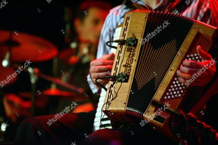 Stock Image of Accordian player