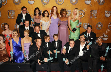 Stock Photo of Andrea Bowen, Mehcad Brooks, Ricardo Antonio Chavira, Marcia Cross, Steven Culp, Teri Hatcher, Felicity Huffman, Brent Kinsman, Shane Kinsman, Eva Longoria, Mark Moses, Doug Savant, Nicollette Sheridan, Brenda Strong, James Denton and Alfre Woodard