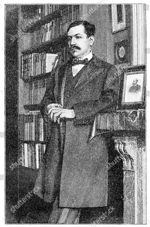 Historical print from the 19th century, portrait of Paul Charles Joseph Bourget, 1852 - 1935, a French writer