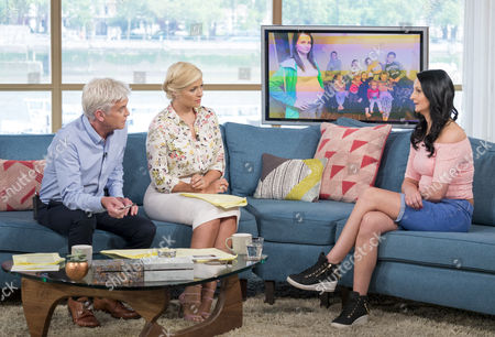 Phillip Schofield, Holly Willoughby with Cheryl Prudham