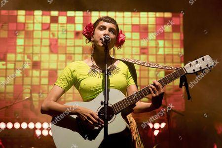 Canadian singer Alysha Brilla performs