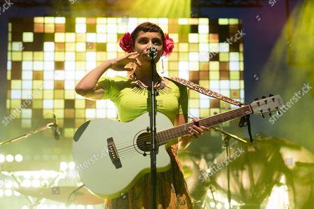 Stock Photo of Canadian singer Alysha Brilla performs