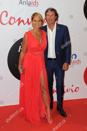 Stock Image of Simona Ventura and Gerolamo Carraro